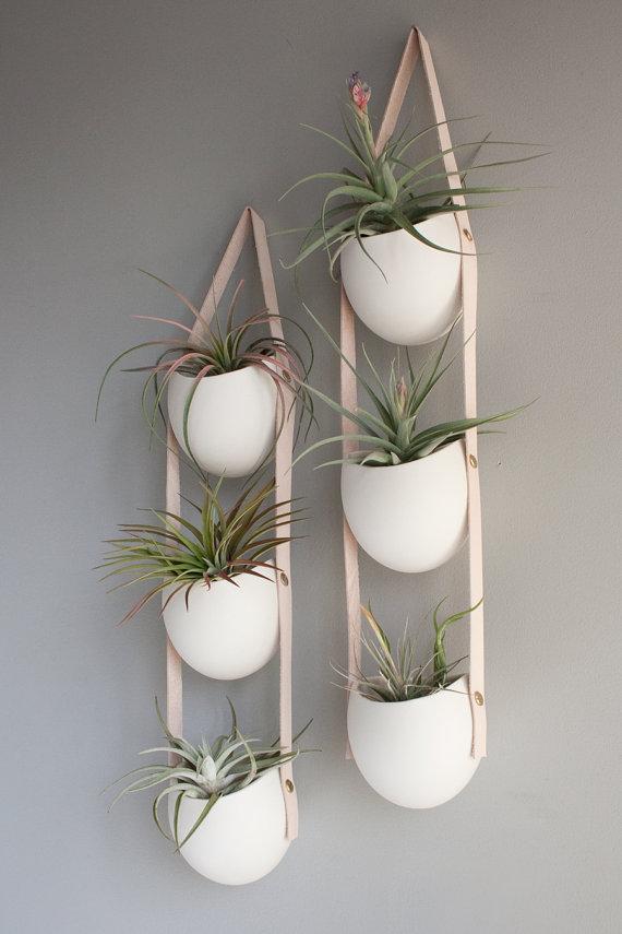 Hanging Pots 3 Tier Porcelain Planter