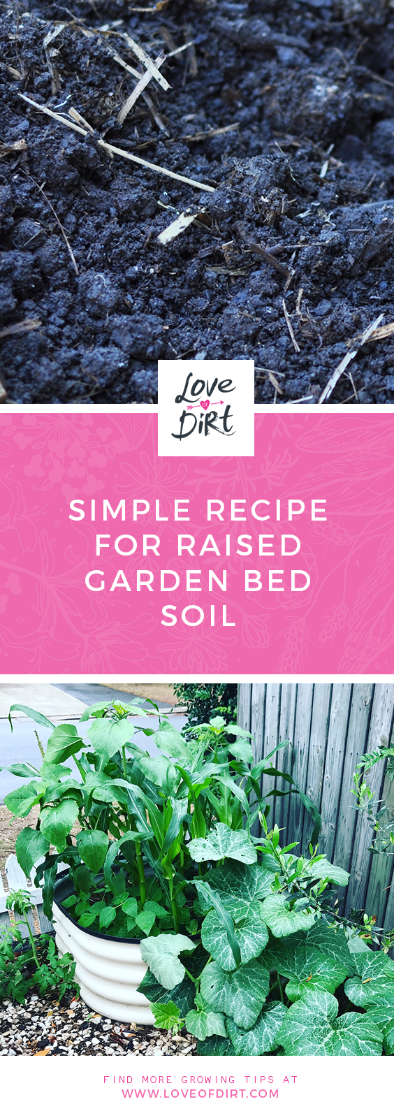 Soil recipe for a raised garden beds